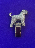 Dog Show Breed Ring Number Clip - Bouvier Des Flandres - FULL BODY Silver or Gold Style